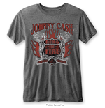 Johnny Cash T-Shirt für Männer - Design: Ring of Fire