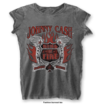 T-Shirt Johnny Cash Ring of Fire with Burn Out Finishing