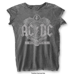 AC/DC T-Shirt für Frauen - Design: Black Ice with Burn Out Finishing