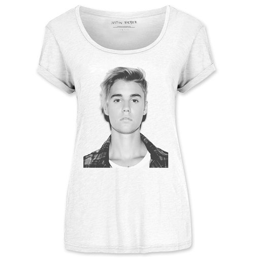 T-Shirt Justin Bieber Ladies Tee: love Yourself