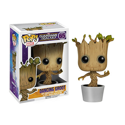 Actionfigur Guardians of the Galaxy Funko Pop GUARDIANS OF THE GALAXY Dancing Groot Bobble Head
