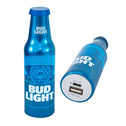 Powerbank Bud Light Bottle Phone Charging Power Bank
