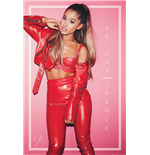 Poster Ariana Grande - rot - 61 x 91,5 cm.