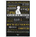Poster Breaking Bad - Typographic. Grosse: 61 x 91,5 cm.
