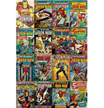 Poster Marvel Superheroes Iron Man Covers - 61 x 91,5 cm