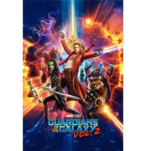 Poster Guardians of the Galaxy Vol. 2 - One Street - 61 x 91,5 cm.