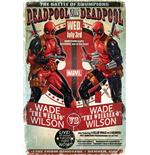 Poster Deadpool - Wade Vs Wade - 61 x 91,5 cm.