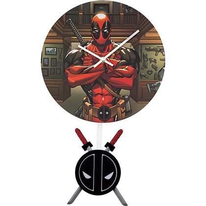 Wanduhr Deadpool