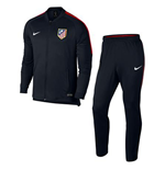 Trainingsanzug Atletico Madrid 2017-2018 (Schwarz)