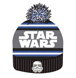 Star Wars Beanie Knitted Logo & Stormtrooper