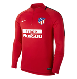 Sweatshirt Atletico Madrid 2017-2018 (Rot)