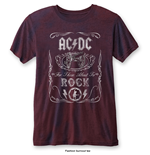 AC/DC T-Shirt Fashion für Männer - Design: Cannon Swig with Burn Out Fishing