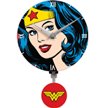 Wonder Woman 3D Mini Motion Wanduhr Swinging Logo