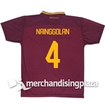 Trikot AS Roma Home 2017/2018 Replik Jersey Nainggolan 4
