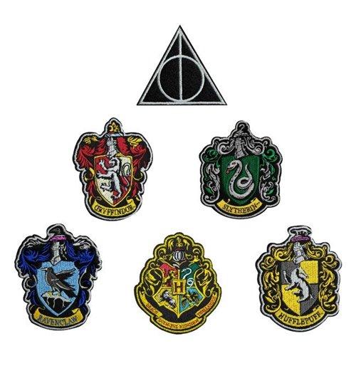 Patches // Bügelbild //Aufbügler Harry Potter © Hufflepuff Wappen Aufnäher