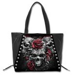 Tasche Spiral Skulls N' Roses - Tote Bag - Top quality PU Leather Studded