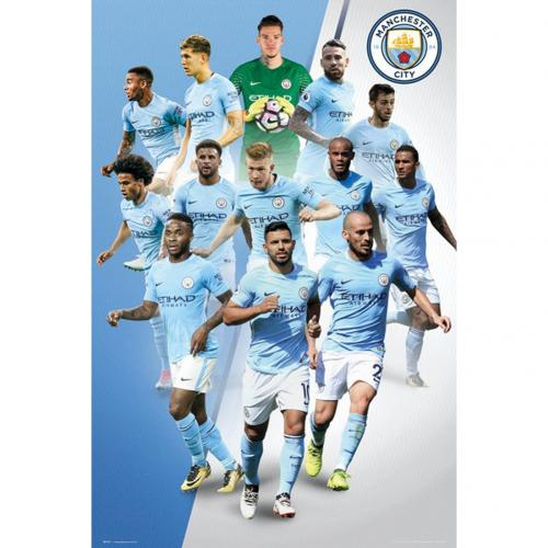 Poster Manchester City FC Players 17