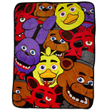 Five Nights at Freddy's Fleecedecke Characters 122 x 153 cm
