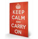 Holzdruck Keep Calm and Carry On 283438