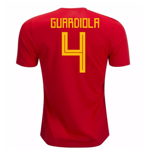 Trikot 2018/19  Spanien Fussball 2018-2019 Home (Guardiola 4)