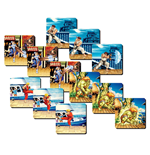 Street Fighter 3D Untersetzer 4-er Pack Team