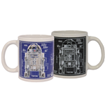 Star Wars Tasse mit Thermoeffekt Blueprint R2-D2