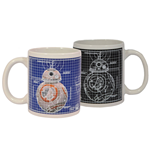 Star Wars Tasse mit Thermoeffekt Blueprint BB-8