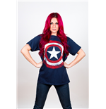 T-Shirt Marvel Superheroes für Männer - Design: Captain America Distressed Shield