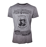 T-Shirt Jack Daniel's Charcoal Mellowed 'Drop by Drop' T-Shirt für Herren