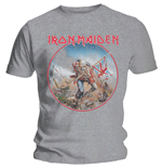 Iron Maiden T-Shirt für Männer - Design: Trooper Vintage Circle