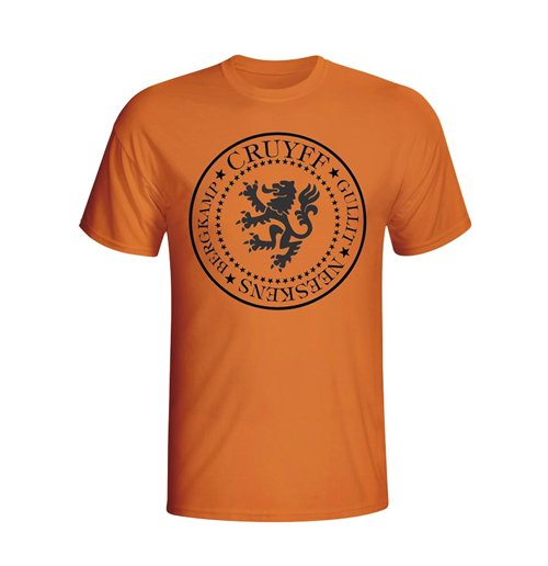 T-Shirt Holland Fussball (Orange)