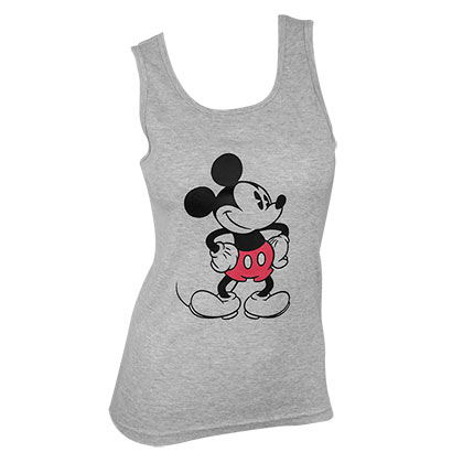 Top Mickey Mouse für Frauen in grau