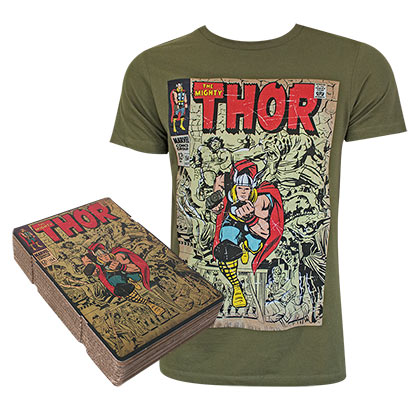T-Shirt Thor  Corrugated Boxed in grün