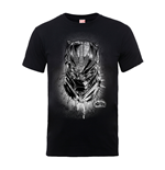 Marvel Black Panther T-Shirt SPRAY HEADSHOT