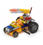 Teenage Mutant Ninja Turtles Mega Bloks Bauset Mikey Pizza Racer
