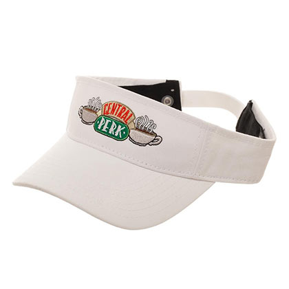 Kappe Friends Cdntral Perk Visor in weiss