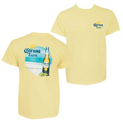 T-Shirt Corona EXTRA  Find Your Beach für Männer in Gelb