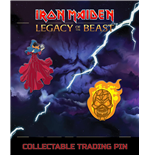 Iron Maiden Legacy of the Beast Ansteck-Button Doppelpack Clairvoyant & Wicker Man