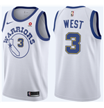Golden State Warriors David West Nike Hardwood Classic Replik Trikot