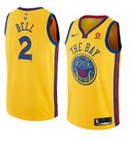 Golden State Warriors Jordan Bell Nike City Edition Replik Trikot
