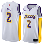 Los Angeles Lakers Lonzo Ball Nike Association Edition Replik Trikot