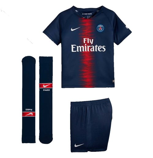 Fußballtrikot-Set für Kinder Paris Saint-Germain 2018-2019 Home