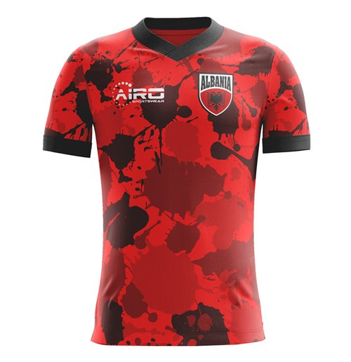 T-Shirt Albanien Fussball 2018-2019 Home Kinder