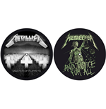 Metallica Slipmat - Design: Master of Puppets / and Justice for All