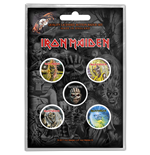 Iron Maiden Brosche - Design: The Faces of Eddie