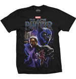 Marvel Superheroes T-Shirt für Männer - Design: Black Panther Montage