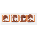 The Beatles Aufnäher - Design: Heads in Boxes