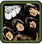 The Beatles Aufnäher - Design: Rubber Soul Album