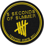 5 seconds of summer Aufnäher - Design: Derping Stamp