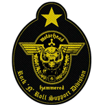 Aufnäher Motorhead  Standard Patch: Support Division Cut-Out (Loose)